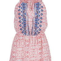 Embroidered Patterned Tunic Tank