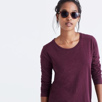 Whisper Cotton Long-Sleeve Crewneck Tee : | Madewell