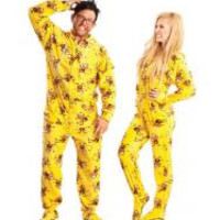 Crazy Monkeys Adult Footed Onesuit Pajamas