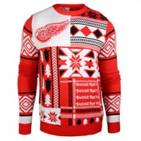 "Detroit Red wings Official NHL Men's ""Ugly Sweater"" by Klew"