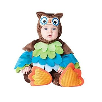 Toddler Newborn Baby Cosplay Costume Owl Hooded Sleeveless Romper Jumpsuit Outfit Clothes
