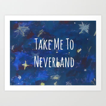 Take Me To Neverland | Galaxy Art Print by Sarah Hinds