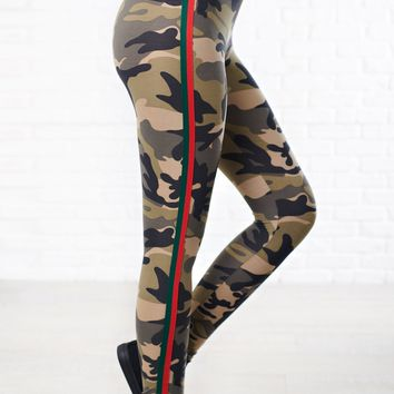 Ariana Camo Leggings (Camo)