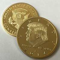 Donald Trump 2016 24kt Gold Plated EAGLE Presidential Commemorative Coin 30mm