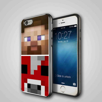 minecraft faces, iPhone 4/4S, 5/5S, 5C Series Hard Plastic Case