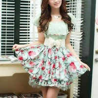 MISS DAINTY FLORAL DRESS WITH BELT