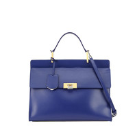Le Dix Zip Cartable Satchel Bag, Blue - Balenciaga