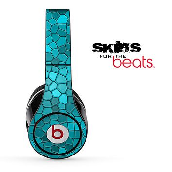 Aqua Blue Tiled V4 Skin for the Beats by Dre Solo, Studio, Wireless, Pro or Mixr