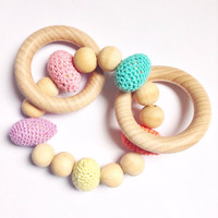 Easter eggs baby teething toy, Baby Easter gift, Montessori baby toy