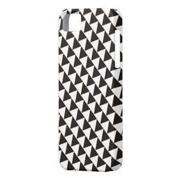 Black White Geometric Pattern - iPhone 5 Case