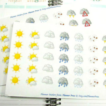 40 Weather Planner Stickers For Your Erin Condren Life Planner