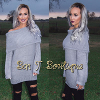 Silver Fox Oversized Sweater