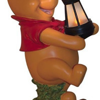 Woods International 4023 Winnie-the-Pooh Holding Lighted Lantern, 15.125-Inch by 12-1/4-Inch by 8-3/4-Inch