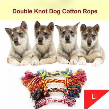 Hot Sell Double Knot Cotton Rope Cotton Braided Bone Rope Puppy Dog Pet Toy Trumpet Chew Knot Toy jouet chien