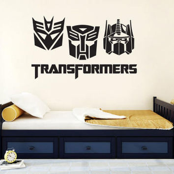 Transformers Wall Decal / Prime Wall Sticker / Kids Wall Decor / Bedroom Wall Sticker / Nursery wall decal / Children Decor  rta1945