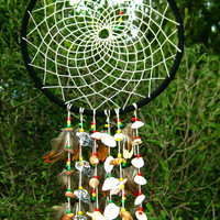 Rasta Sea Shell Dream Catcher