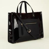 Black Transparent Tote Bag | New Look