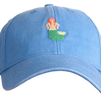 Mermaid Needlepoint Hat, Perwinkle, Hats