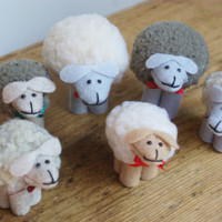 Handmade Sheep Christmas Ornaments, Christmas Ornaments for Knitters