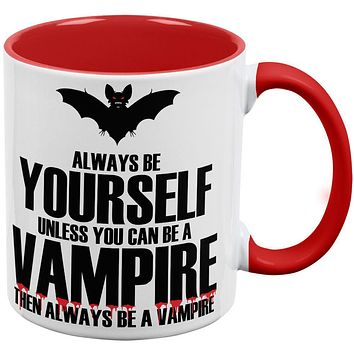 Always Be Yourself Vampire Red Handle Coffee Mug