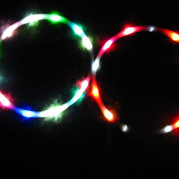 "FREE SHIPPING - Mini 25"" PolyPro LED Hula Hoops - Minis (includes two mini hoops)"