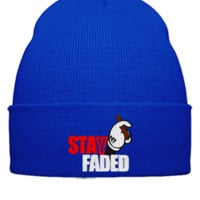 stay faded embroidery - Beanie Cuffed Knit Cap
