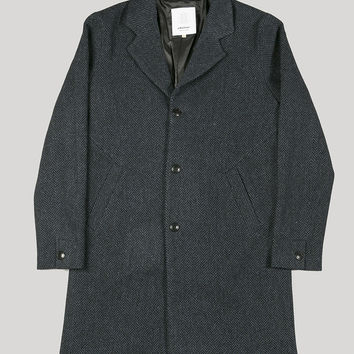 Elvine Julian Jacket Navy Herringbone