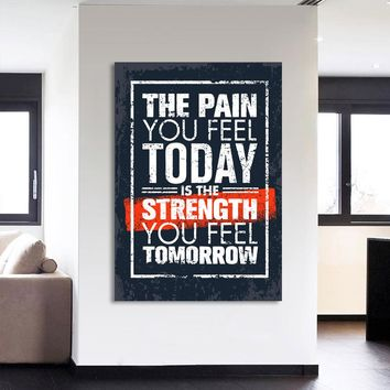 Canvas HD Prints Pictures Wall Art Frame 1 Piece Inspirational Quotes Painting Letter Poster Motivational Home Decor Living Room