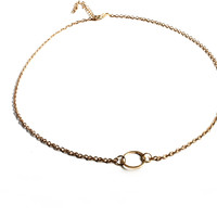 """""""Circling Around"""" Gold Necklace"""