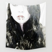 Amber Light Soul Wall Tapestry by Zurine
