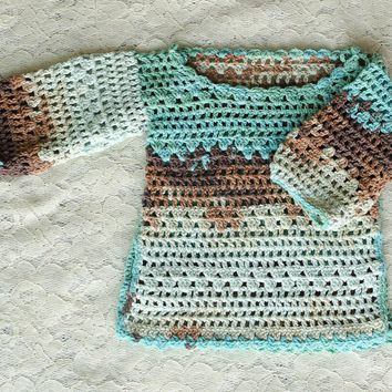 Handmade Kids Sweater Crochet Tunic