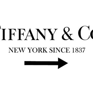 Tiffany Sign in Prada Marfa Style White Print Poster as seen on Gossip Girl  - Pop Art, French, Vintage, Art Deco