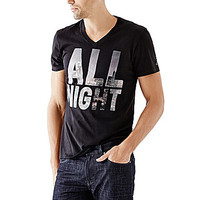 Guess All Night Short-Sleeve Tee - Jet Black