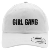 Girl Gang Embroidered Cotton Twill Hat