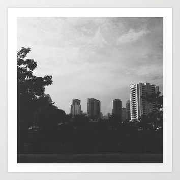 Sao Paulo Black and White Art Print by Outside Unknown
