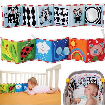0-12 months newborn crib bed baby toys soft cloth books infant colors/ animal early educational stroller rattle toys CX894165