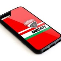 Ducati Logo Art Automotive Custom For iPhone 6s 7 8 X plus Hard Protect Case