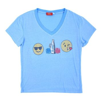 Butter Kids Cool Cheer Kiss Emoji Tee