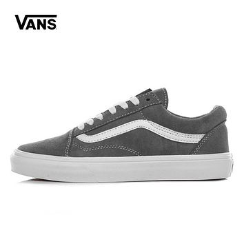 Best Deal Online Vans White Gray Old Skool Low Top Women Sneaker Flats Shoes Canvas Sp
