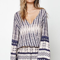 Honey Punch Wrap Front Long Bell Sleeve Top at PacSun.com