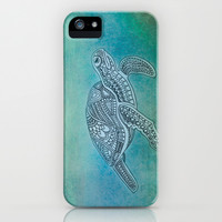 Turtle II iPhone & iPod Case by Sandy Broenimann