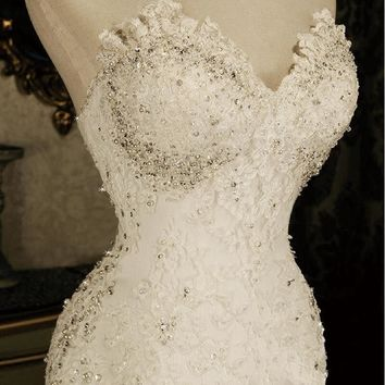 Custom Made Wedding Dress Mermaid High Quality | Lace Bridal Gown