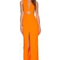 SOLACE London Holt Maxi Dress in Orange