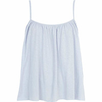 LIGHT BLUE BABYDOLL CAMI TOP