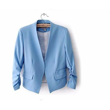 WOMEN'S BLAZER WITH PUFF SLEEVES