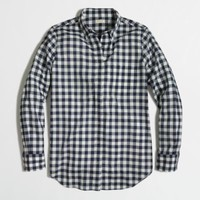 Factory petite gingham button-down shirt