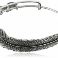 "Alex and Ani Earth Sultry ""Plume Feather"" Bangle Bracelet @ Jewelry Wonder"