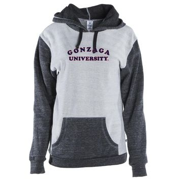 Official NCAA Gonzaga Bulldogs RYLGON01 Mens/ Womens Color Block Pullover Hoodie