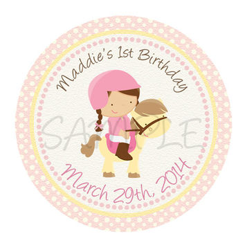 Horse sticker Cupcake Topper, Tags,. Birthdays and Baby Shower. Horse birthday, horse printable. Digital file
