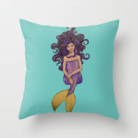 Awe Throw Pillow by Jellywell Art